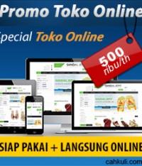 Promo Paket Toko Online – Special januari 2016!